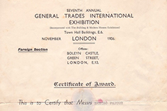 International fair - London 1936g.