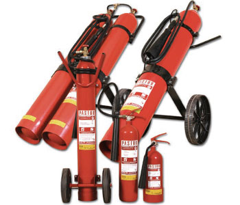 Pastor CO2 based fire extinguishers