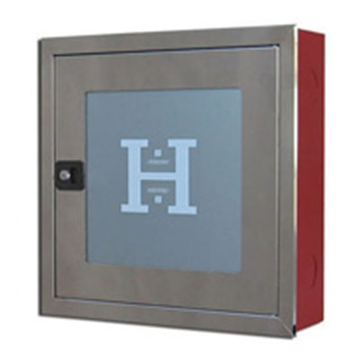 BUILT-IN WALL HYDRANT CABINET HO2B INOX  WITH A FRAME VH0019