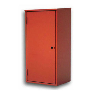 CABINET FOR FIRE EXTINGUISHER, OUTDOOR, SLOPED ROOF