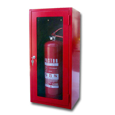 CABINET FOR FIRE EXTINGUISHER GLASS AND LOCK