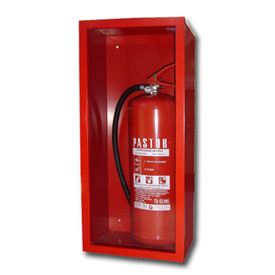CABINET FOR FIRE EXTINGUISHER GLASS AND LOCK INOX