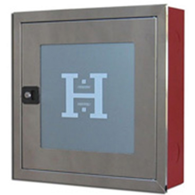BUILT-IN WALL HYDRANT CABINET HO2B INOX  WITH A FRAME